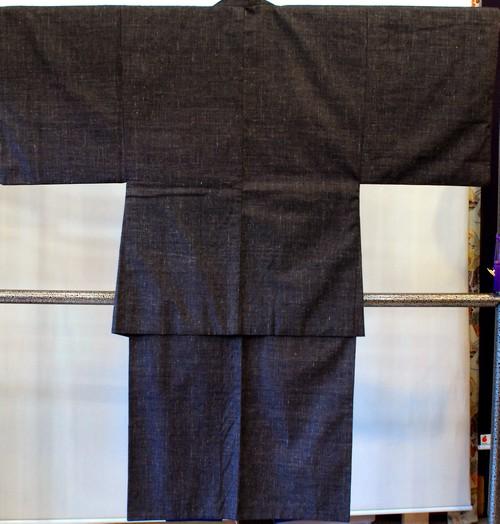 男物 紬 アンサンブル・長襦袢3点セット こげ茶(A7781)