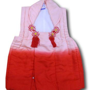 【七五三】3歳女の子単品被布 ピンク暈かし