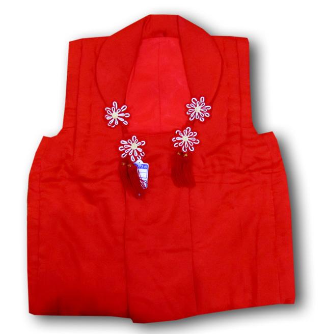 【七五三】3歳女の子単品被布 赤色