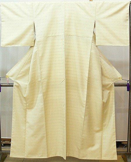 紬 ベージュ 南風原花織 本場琉球 桃原織物工房製